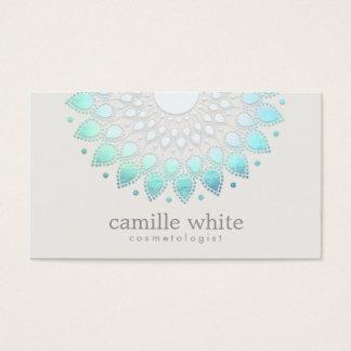 Cartão De Visitas Termas holísticos elegantes e beleza de Lotus
