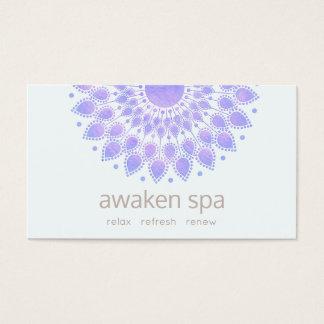 Cartão De Visitas Termas naturais e beleza da flor de Lotus da