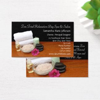 Cartão De Visitas Termas/preto/cor da cena salão de beleza da