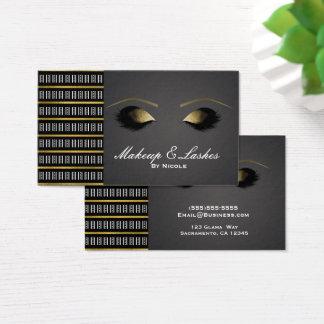 Cartão De Visitas Termas pretos cinzentos da beleza das pestanas da