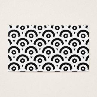 Cartão De Visitas Teste padrão abstrato - preto e branco.