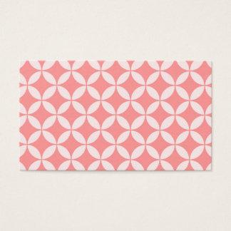 Cartão De Visitas Teste padrão abstrato - rosa