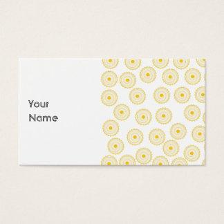 Cartão De Visitas Teste padrão amarelo do cupcake