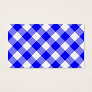 Cartão De Visitas Teste padrão azul do guingão
