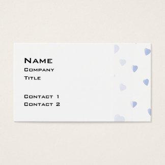 Cartão De Visitas Teste padrão azul e branco da luz - do amor dos