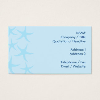 Cartão De Visitas Teste padrão azul pálido da estrela do mar
