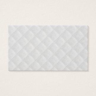 Cartão De Visitas Teste padrão branco da edredão da neve