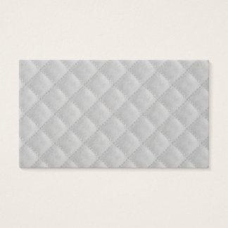 Cartão De Visitas Teste padrão branco gelado da edredão do Natal