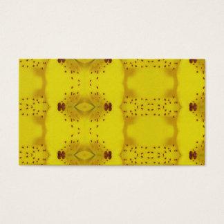 Cartão De Visitas Teste padrão brilhante amarelo