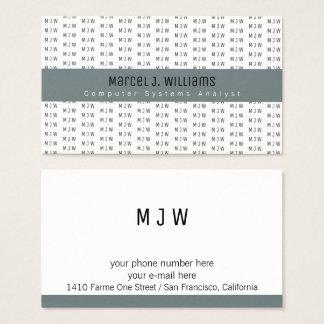 Cartão De Visitas teste padrão cinzento profissional moderno da