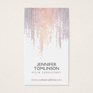Cartão De Visitas Teste padrão colorido elegante da chuva dos