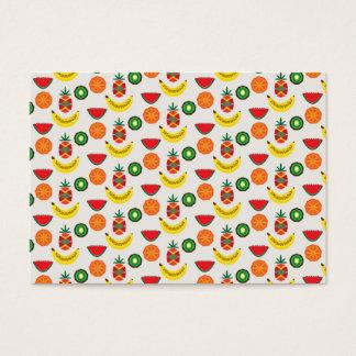 Cartão De Visitas teste padrão com frutas