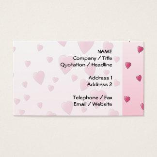 Cartão De Visitas Teste padrão cor-de-rosa bonito de corações do