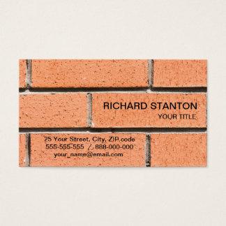 Cartão De Visitas Teste padrão da parede de tijolo