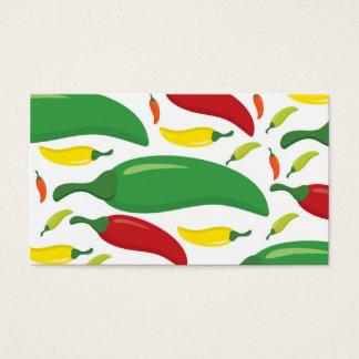 Cartão De Visitas Teste padrão da pimenta de pimentão