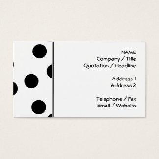 Cartão De Visitas Teste padrão Dalmatian preto e branco do ponto
