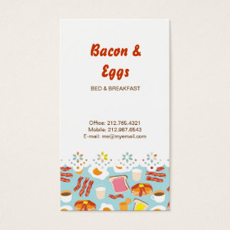 Cartão De Visitas Teste padrão das ilustrações da comida de pequeno