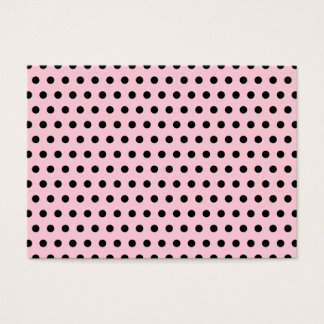 Cartão De Visitas Teste padrão de bolinhas cor-de-rosa e preto.
