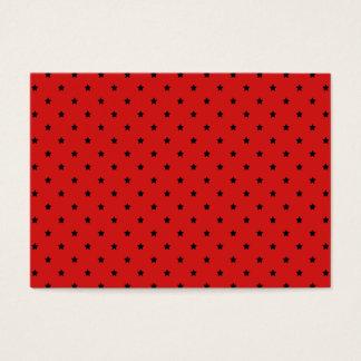 Cartão De Visitas Teste padrão de estrelas vermelho e preto