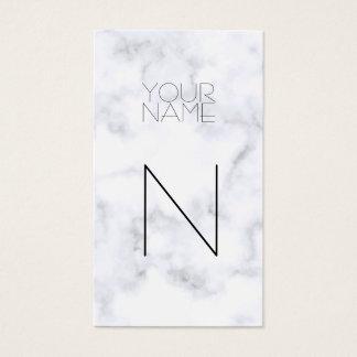 Cartão De Visitas Teste padrão de mármore branco da forma