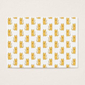 Cartão De Visitas Teste padrão do gato do gengibre