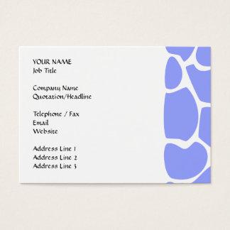Cartão De Visitas Teste padrão do impressão do girafa no azul de céu