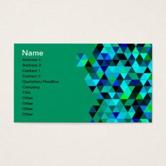 Cartão De Visitas Teste padrão do triângulo da tecnologia do verde