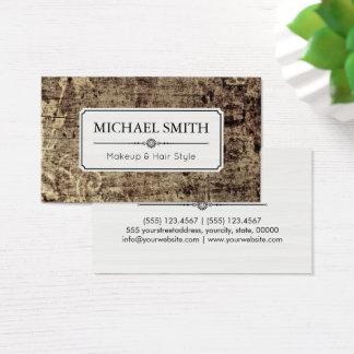 Cartão De Visitas Teste padrão floral do vintage moderno do penteado