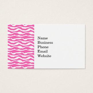 Cartão De Visitas Teste padrão listrado na moda da zebra cor-de-rosa