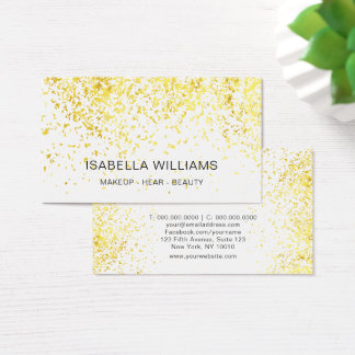 Cartão De Visitas Teste padrão luxuoso do brilho do ouro