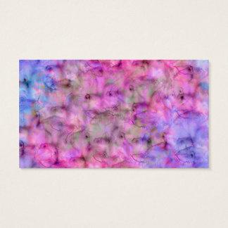 Cartão De Visitas Teste padrão misturado roxo cor-de-rosa colorido