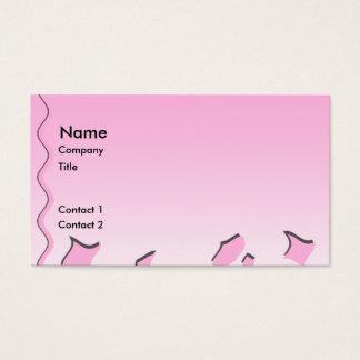 Cartão De Visitas Teste padrão ondulado cor-de-rosa e branco da luz