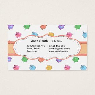 Cartão De Visitas Teste padrão Pastel do porco