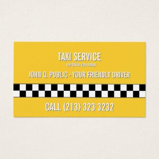Cartão De Visitas Teste padrão preto e branco do motorista de táxi