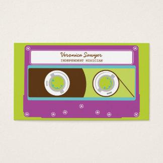 Cartão De Visitas Teste padrão retro Indie da cassete de banda