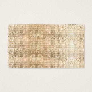 Cartão De Visitas Teste padrão simples do Sequin do ouro