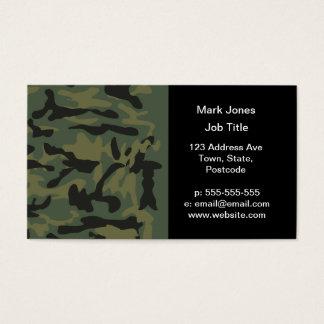 Cartão De Visitas Teste padrão verde do camo