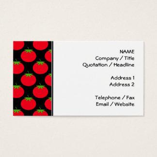 Cartão De Visitas Teste padrão vermelho do tomate
