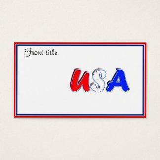 Cartão De Visitas Texto branco & azul vermelho dos EUA