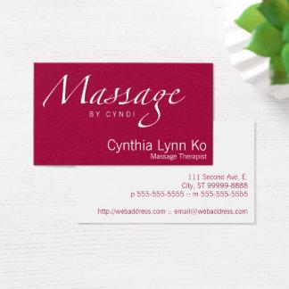 Cartão De Visitas Texto da massagem