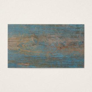 Cartão De Visitas Textura azul da madeira da praia do falso