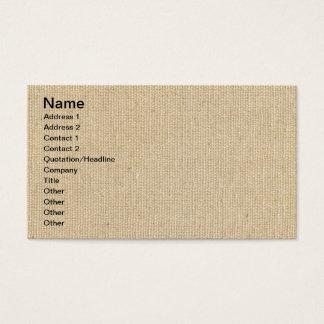 Cartão De Visitas Textura de alta qualidade das canvas do algodão