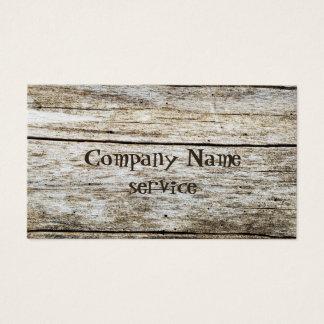 Cartão De Visitas Textura de madeira efeito cinzelado do texto