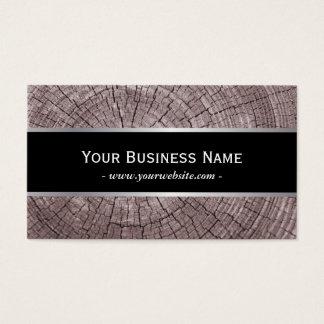 Cartão De Visitas Textura de madeira velha elegante dos anéis de