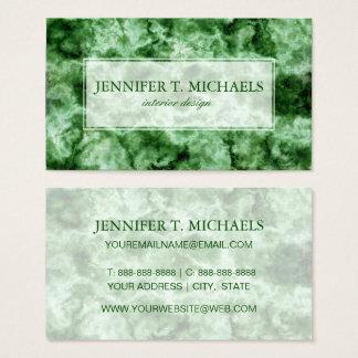 Cartão De Visitas Textura de mármore verde