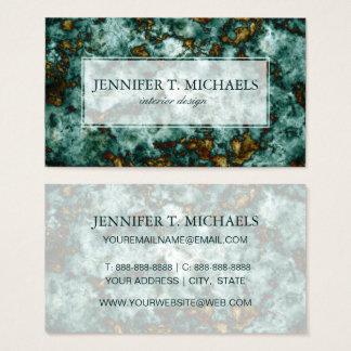 Cartão De Visitas Textura de mármore verde com veias