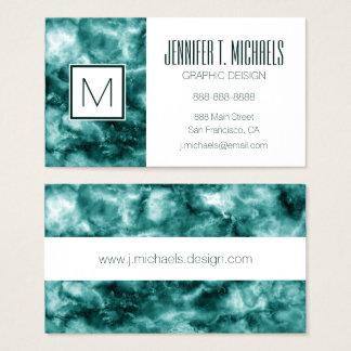Cartão De Visitas Textura de mármore verde escuro