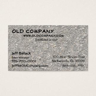 Cartão De Visitas Textura do cascalho