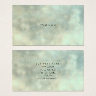 Cartão De Visitas Textura mínima de linho Burla do ouro cinzento de