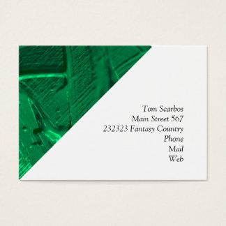 Cartão De Visitas textura molhada da cor, verde